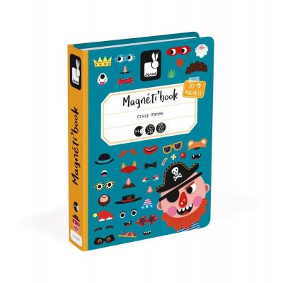 Μαγνητικό Βιβλίο Αστεία Πρόσωπα Αγοριών