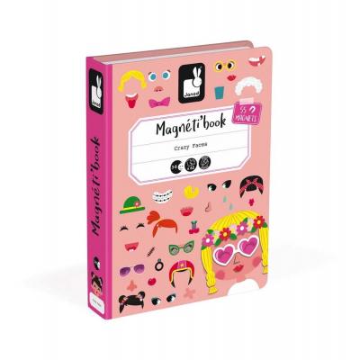 Μαγνητικό Βιβλίο Αστεία Πρόσωπα Κοριτσιών