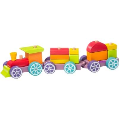 Ξύλινο Τρένο Στοίβαξης Μικρό