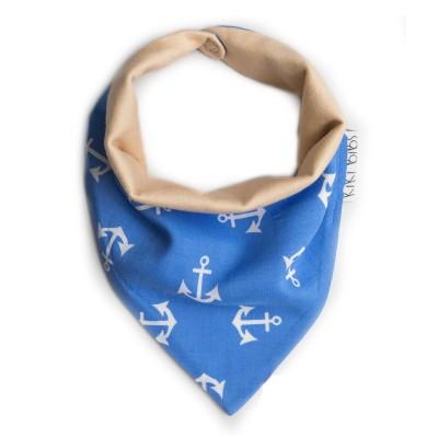 Σαλιάρα-Μπαντάνα Pirate Blue