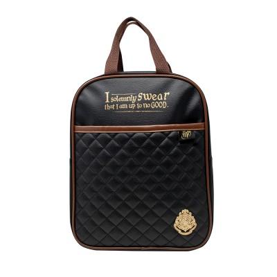Harry Potter Quilted Backpack Black