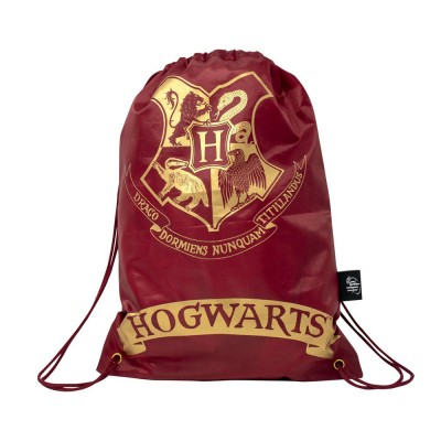 Harry Potter Draw String Bag Burgundy