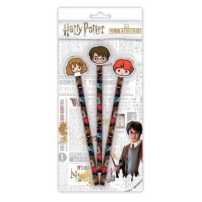 Harry Potter Kawaii 3 Pencil and Eraser