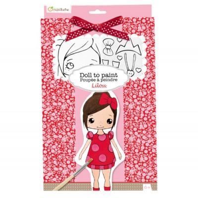 Πάνινη Κούκλα Ζωγραφικής Lilou