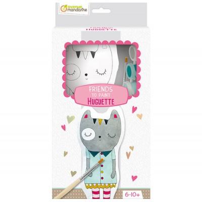 Πάνινη Κούκλα Ζωγραφικής Huguette The Cat