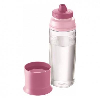 Παγούρι Με Ποτήρι Concept Ροζ 500ml