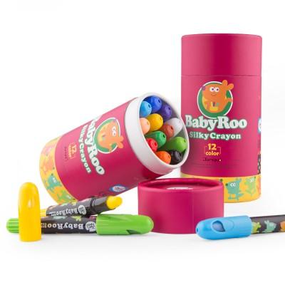 Κηρομπογιές Baby Roo Silky Crayon 12τεμ.