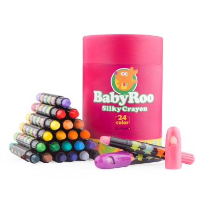 Κηρομπογιές Baby Roo Silky Crayon 24τεμ.