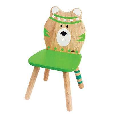Ξύλινη Παιδική Καρέκλα Αρκουδάκι