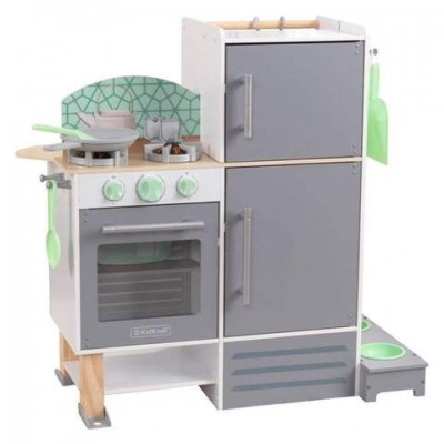Ξύλινη Κουζίνα-Πλυντήριο Διπλής Όψης