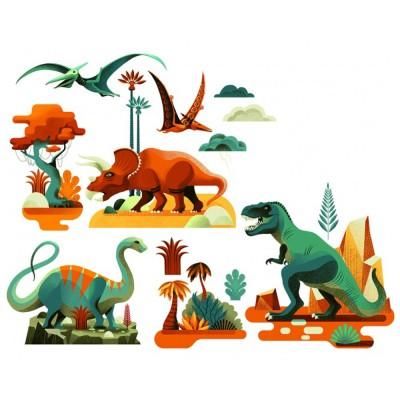 Αυτοκόλλητα Παραθύρου Δεινόσαυροι