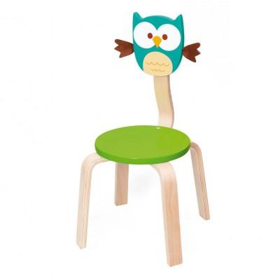 Ξύλινη Παιδική Καρέκλα Owl Lou