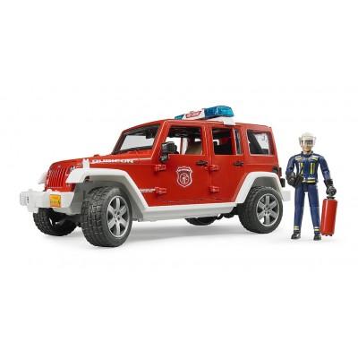 Πυροσβεστικό Jeep Wrangler Με Πυροσβέστη