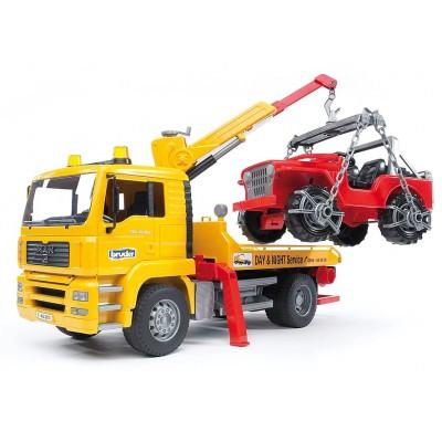 Φορτηγό MAN Οδικής Βοήθειας Με Γερανό & Jeep