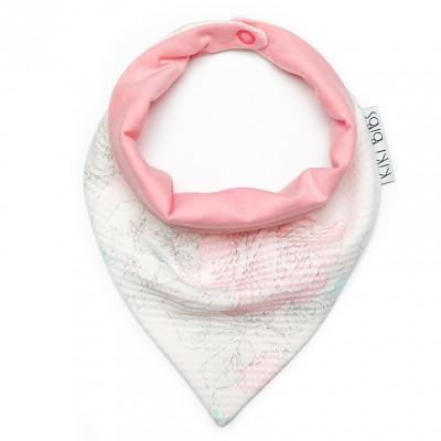 Σαλιάρα-Μπαντάνα Pink Rose