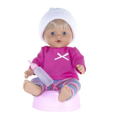 Κούκλα Baby Pipi Girl With Pink Hat