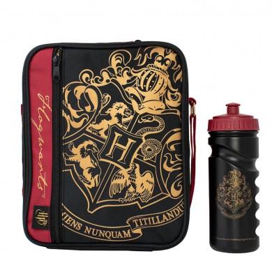 Harry Potter Lunch Bag With Bottle Black