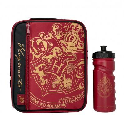 Harry Potter Lunch Bag With Bottle Burgundy