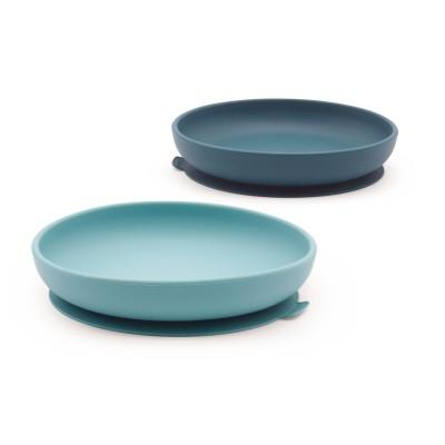 Σετ Πιάτα Σιλικόνης Μπλε/Γαλάζιο