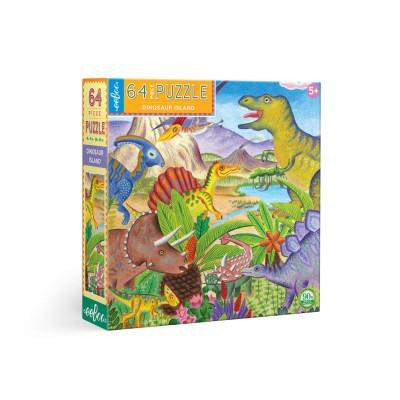 Παζλ Dinosaur Island 64κομ.