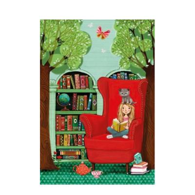 Ευχετήρια Κάρτα Girl Reading