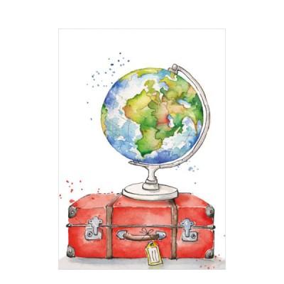 Ευχετήρια Κάρτα Globe & Luggage