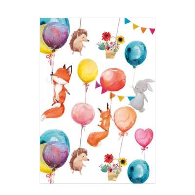 Ευχετήρια Κάρτα Animals & Balloons