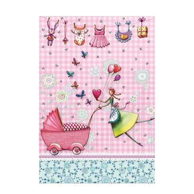Ευχετήρια Κάρτα Birth Baby Girl