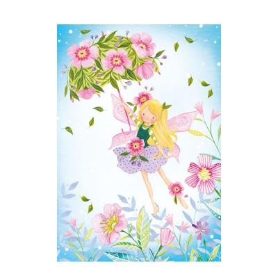 Ευχετήρια Κάρτα Fairy With Flowers