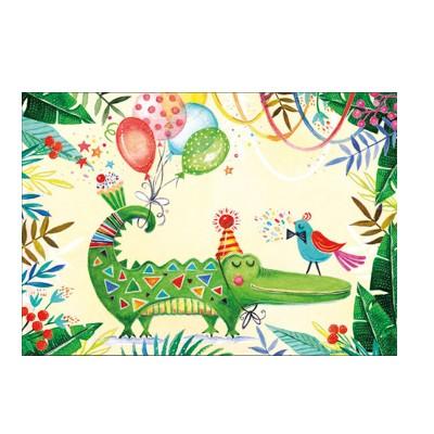 Ευχετήρια Κάρτα Happy Crocodile