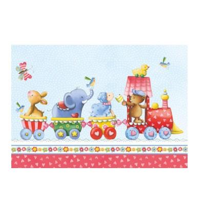 Ευχετήρια Κάρτα Animal Train