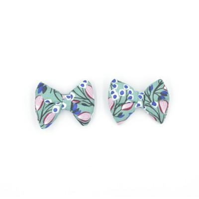 Κλιπ Φιογκάκια Mint Floral