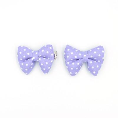 Κλιπ Φιογκάκια Light Purple Spotty