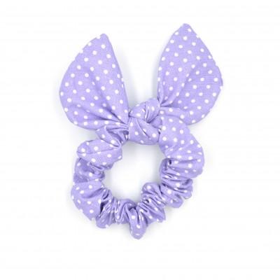 Scrunchies Bunny Light Purple Spotty