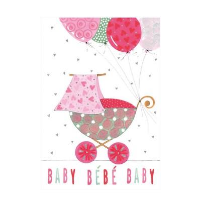 Ευχετήρια Κάρτα Baby Pink Ballοons
