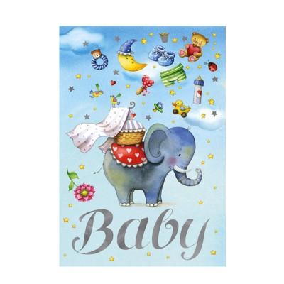 Ευχετήρια Κάρτα Baby Elephant Blue