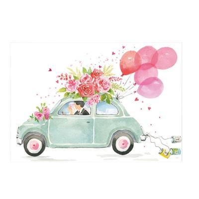 Ευχετήρια Κάρτα Just Married Car