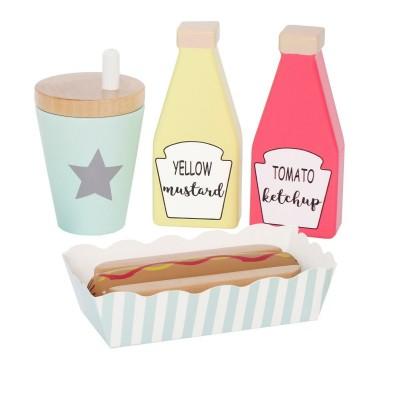 Ξύλινο Hot Dog Meal