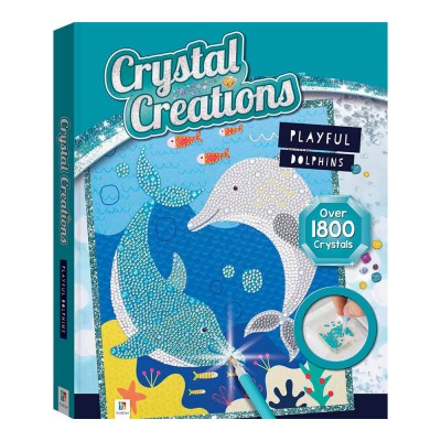 Crystal Creations Playful Dolphins