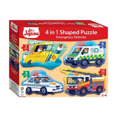 Παζλ Emergency Vehicles 3,6,9,12κομ.